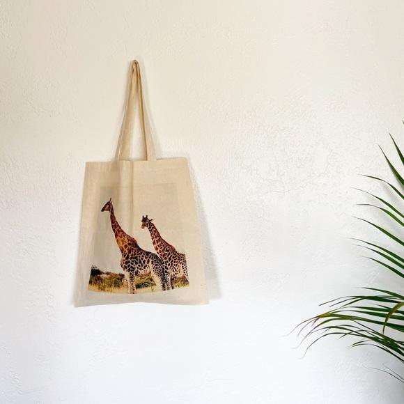 Handbags - Giraffe Canvas Tote